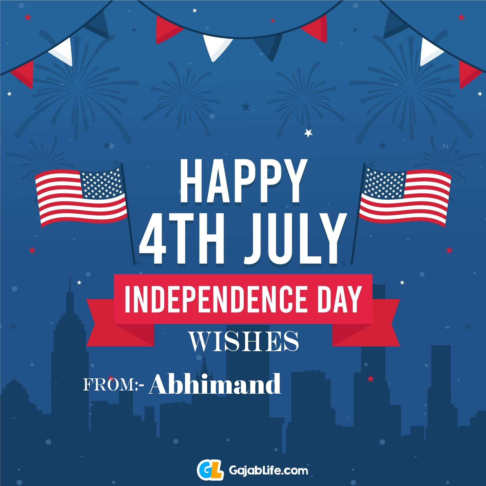 Abhimand happy independence day united states of america images