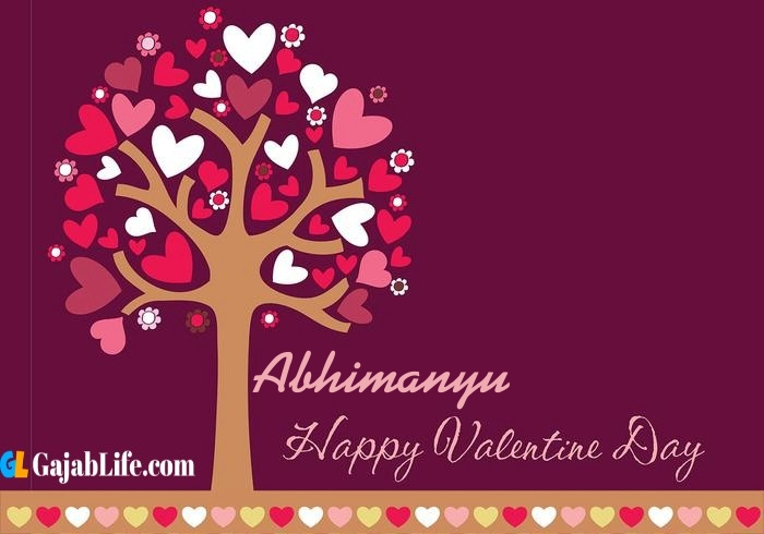 Abhimanyu romantic happy valentines day wishes image pic greeting card