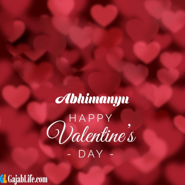 Abhimanyu write name on happy valentines day images