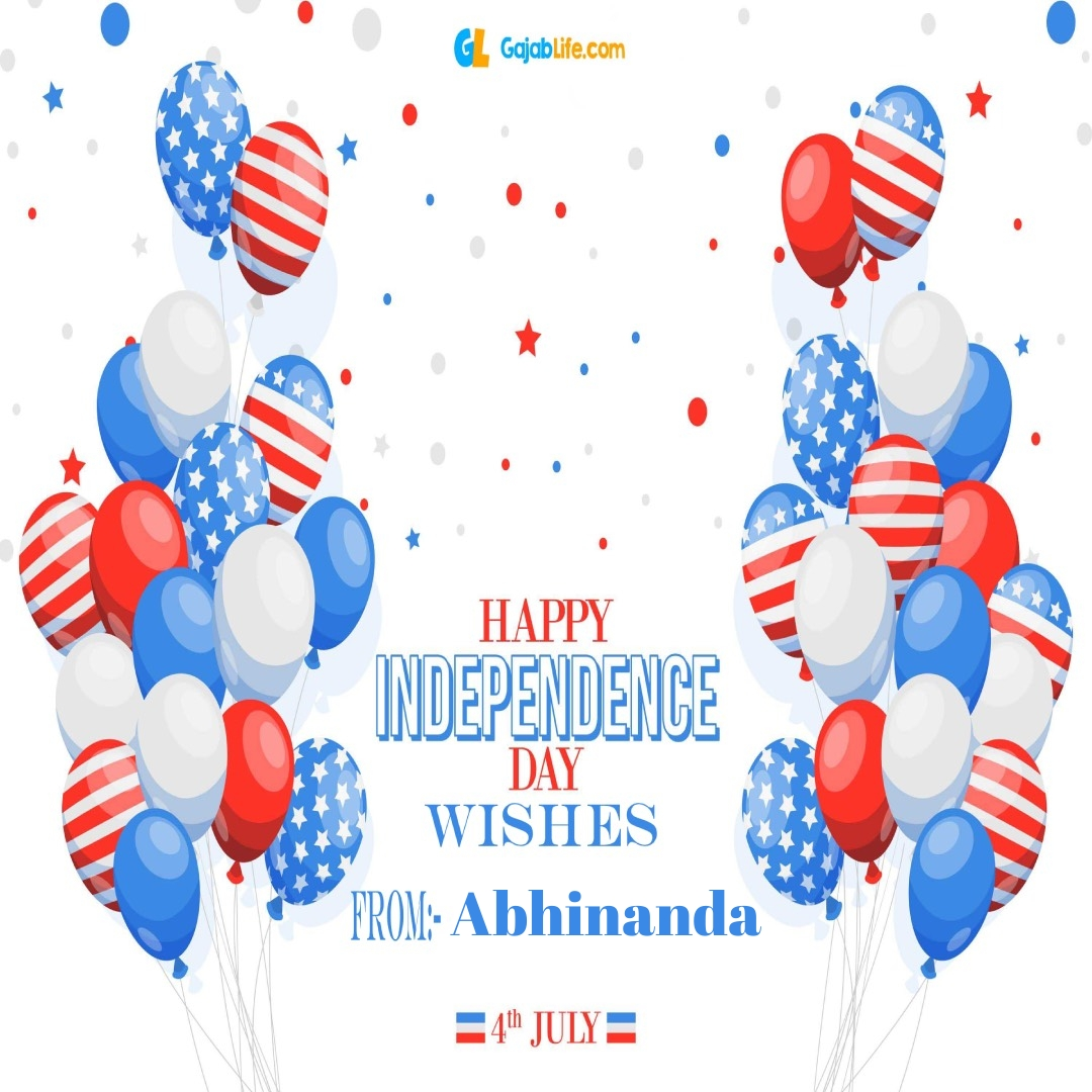 Abhinanda 4th july america's independence day