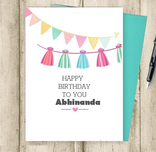 Abhinanda happy birthday cards for friends with name