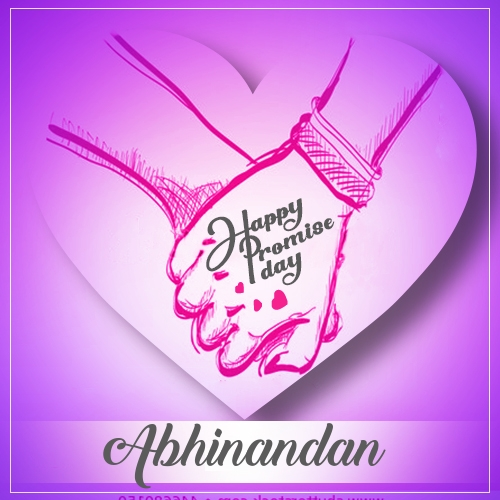 Abhinandan happy promise day 2020 status, promise day quotes
