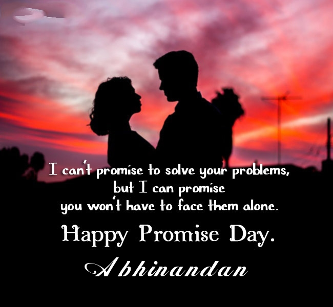 Abhinandan promise day 2020 quotes messages and images