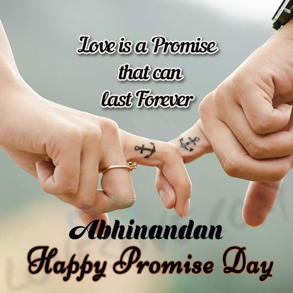 Abhinandan promise day messages, promise day sms & wishes