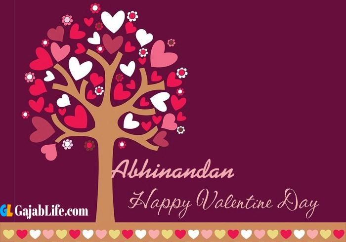 Abhinandan romantic happy valentines day wishes image pic greeting card