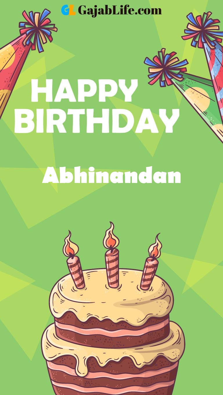 Abhinandan happy birthday cake with name