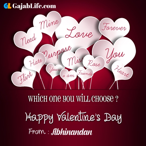 Abhinandan happy valentine days stock images, royalty free happy valentines day pictures