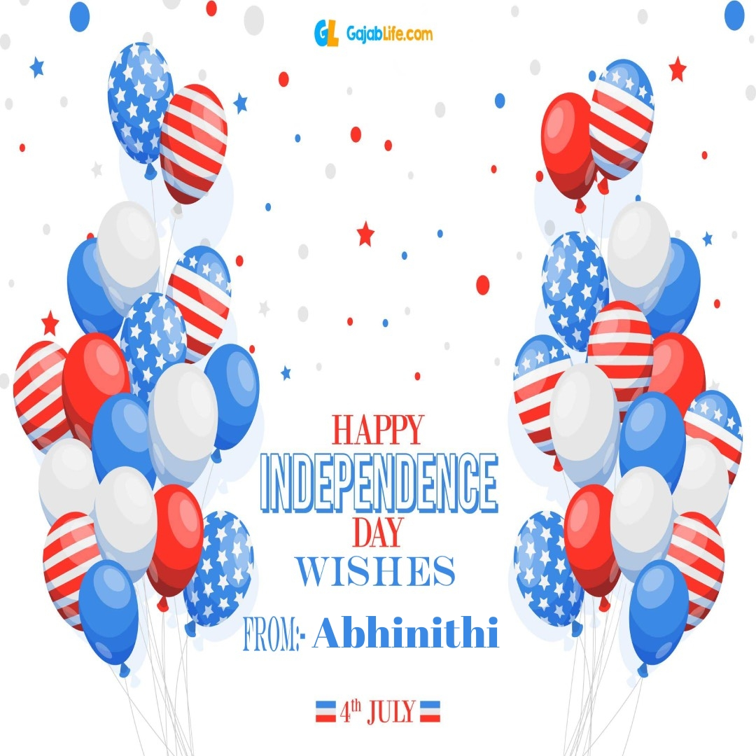 Abhinithi 4th july america's independence day