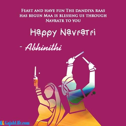 Abhinithi happy navratri wishes images