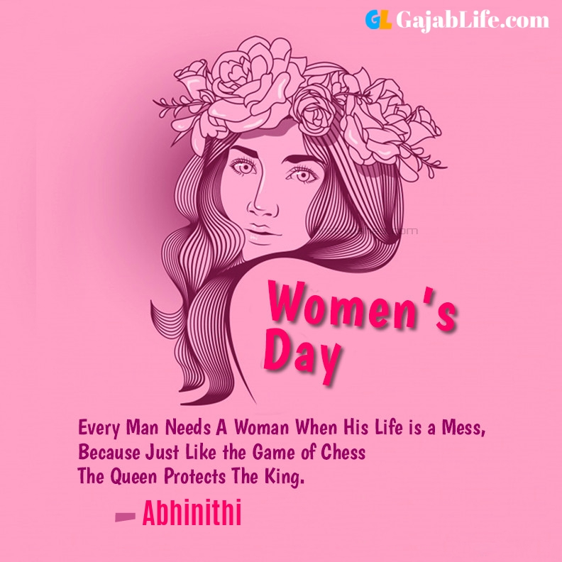 Abhinithi happy women's day quotes, wishes, messages