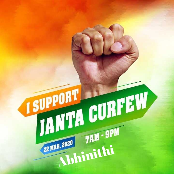 Abhinithi janta curfew meaning and reason