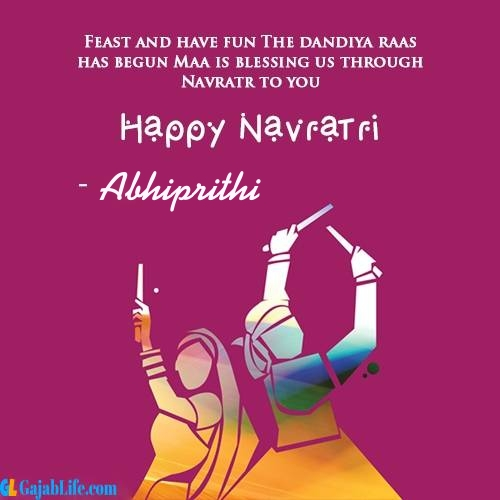 Abhiprithi happy navratri wishes images