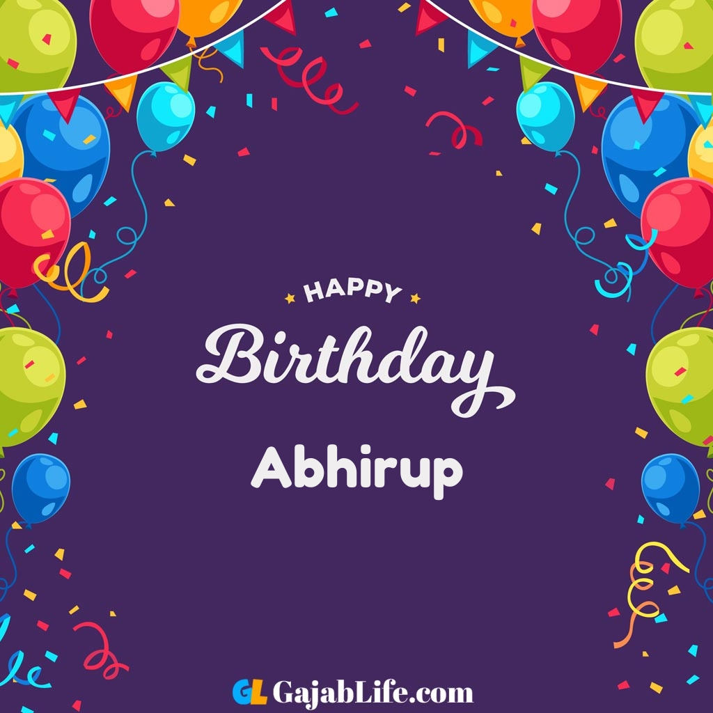 Abhirup happy birthday wishes images with name