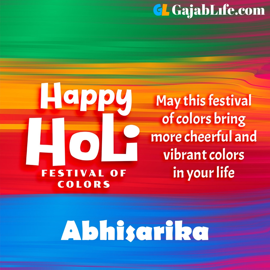Abhisarika happy holi festival banner wallpaper