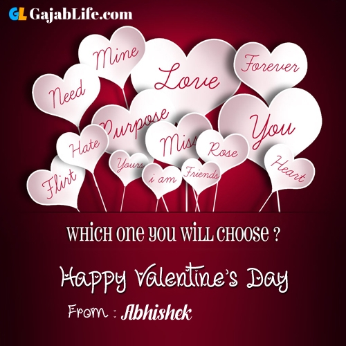 Abhishek happy valentine days stock images, royalty free happy valentines day pictures