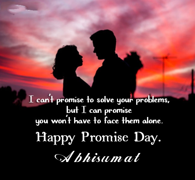 Abhisumat promise day 2020 quotes messages and images