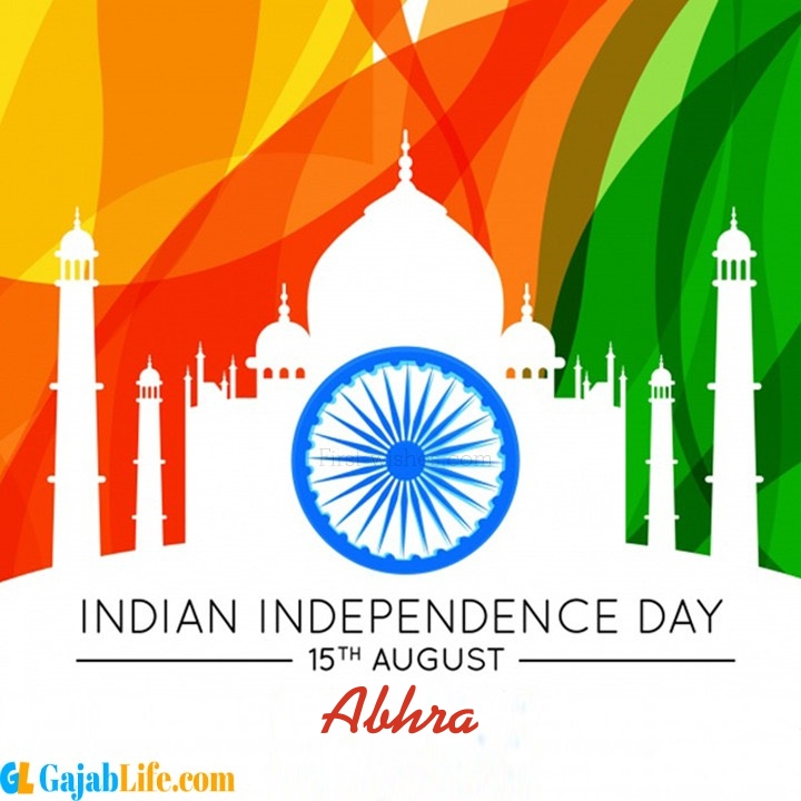 Abhra happy independence day wish images
