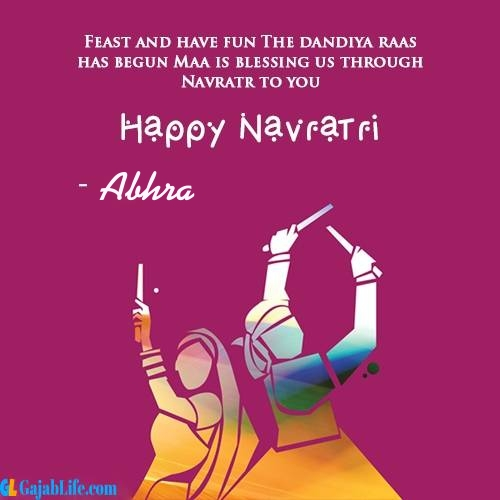 Abhra happy navratri wishes images