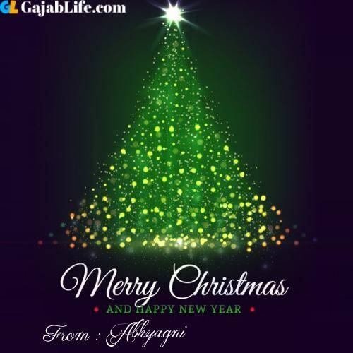 Abhyagni wish you merry christmas with tree images