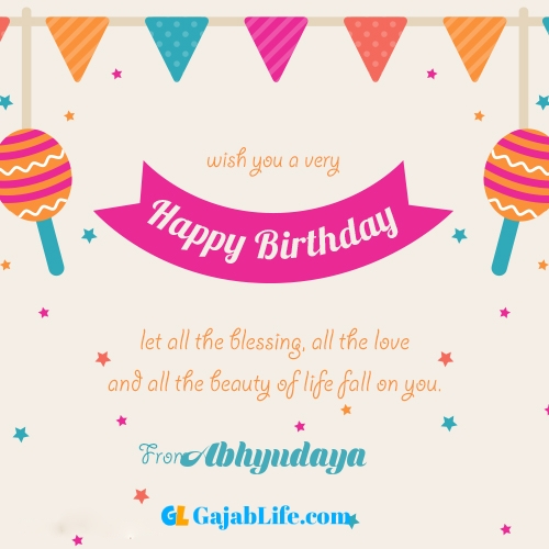 Happy birthday greeting card with name