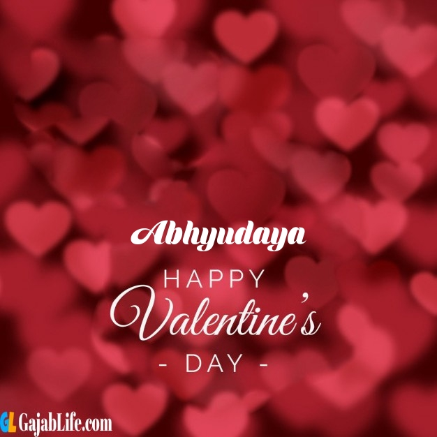 Abhyudaya write name on happy valentines day images