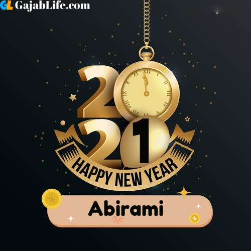 Abirami happy new year 2021 wishes images