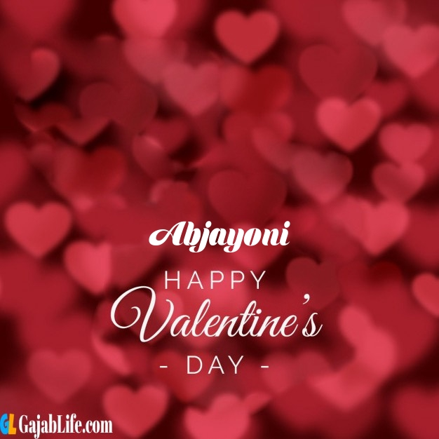 Abjayoni write name on happy valentines day images