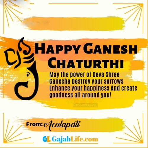 Acalapati best ganpati messages, whatsapp greetings, facebook status