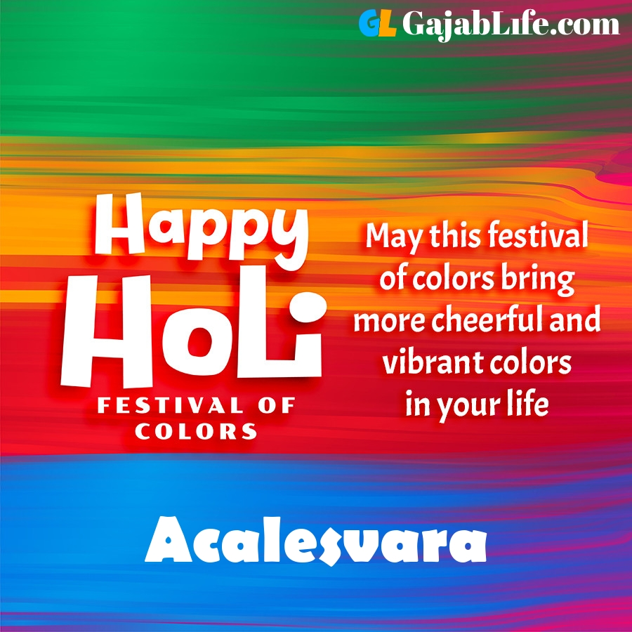 Acalesvara happy holi festival banner wallpaper