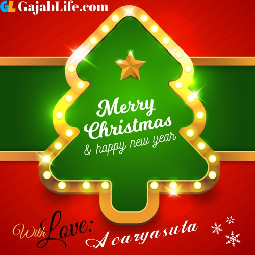 Acaryasuta happy new year and merry christmas wishes messages images