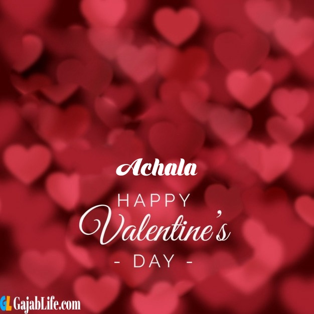 Achala write name on happy valentines day images