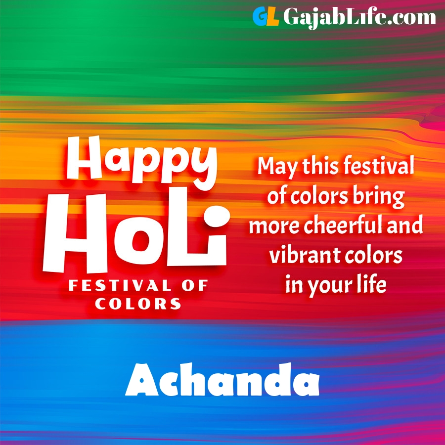 Achanda happy holi festival banner wallpaper
