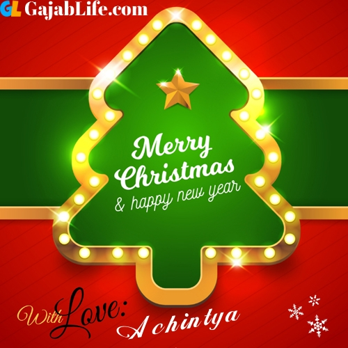 Achintya happy new year and merry christmas wishes messages images