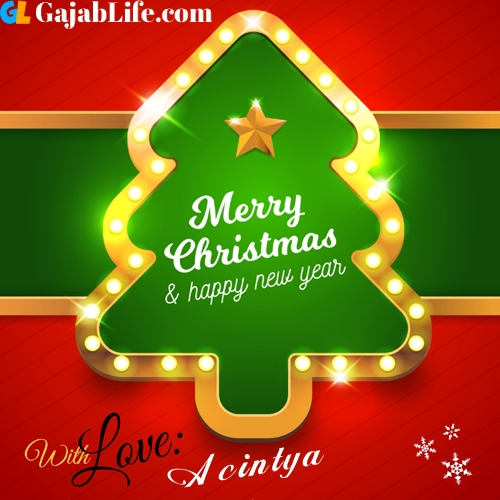 Acintya happy new year and merry christmas wishes messages images