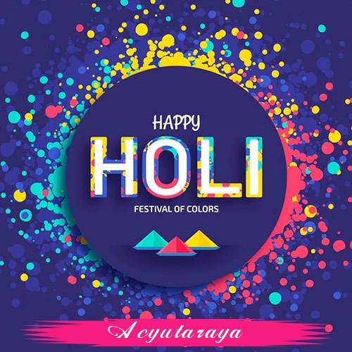 Acyutaraya holi greetings cards  exclusive collection of holi cards