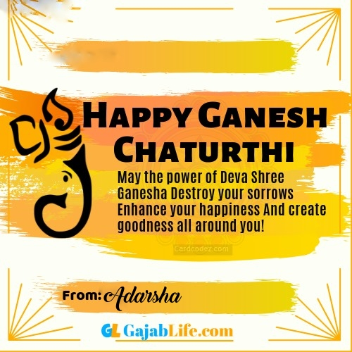 Adarsha best ganpati messages, whatsapp greetings, facebook status