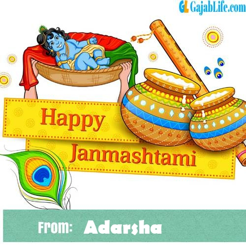 Adarsha happy janmashtami wish