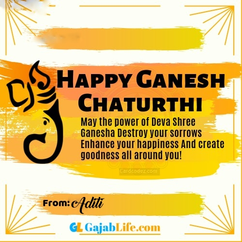 Aditi best ganpati messages, whatsapp greetings, facebook status