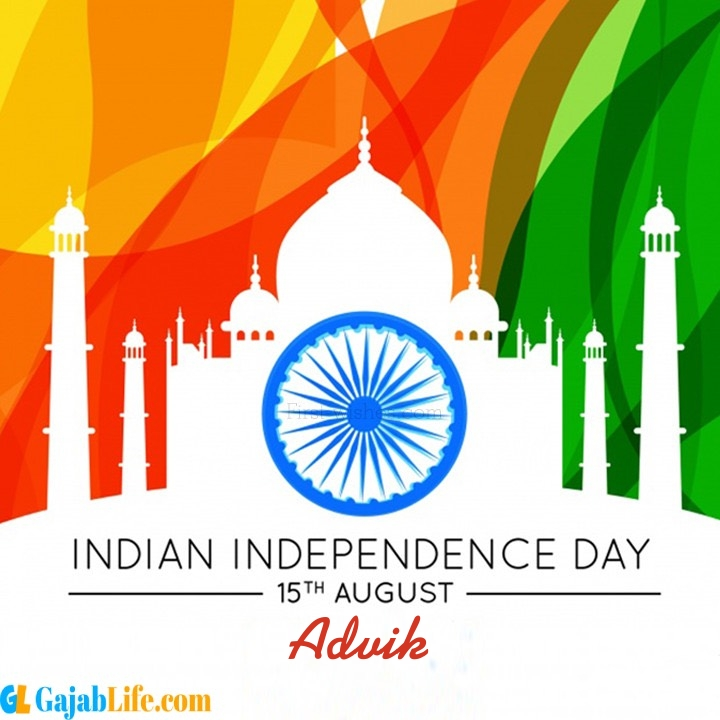 Advik happy independence day wish images