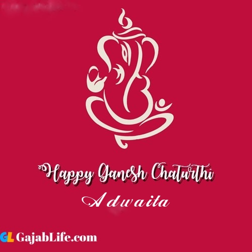 Adwaita happy ganesh chaturthi 2020