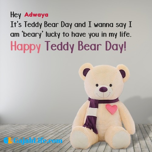 Adwaya happy teddy day wishes, messages, quotes, images, facebook & whatsapp status