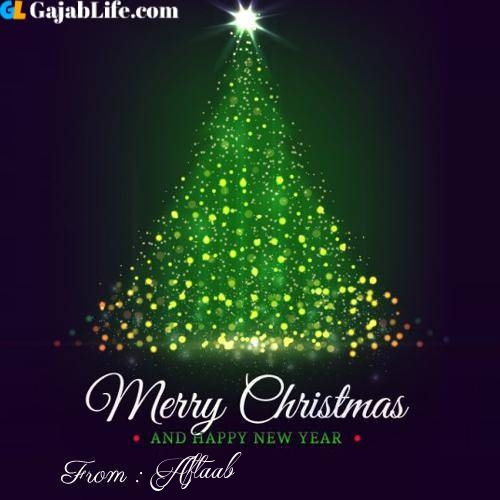 Aftaab wish you merry christmas with tree images