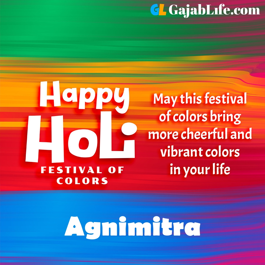Agnimitra happy holi festival banner wallpaper
