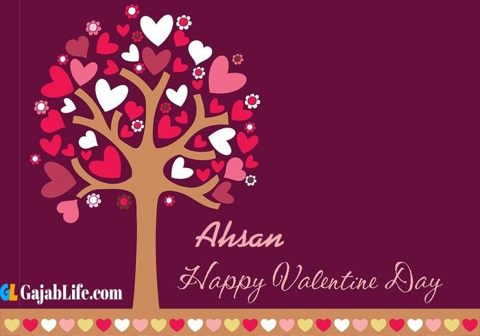 Ahsan romantic happy valentines day wishes image pic greeting card