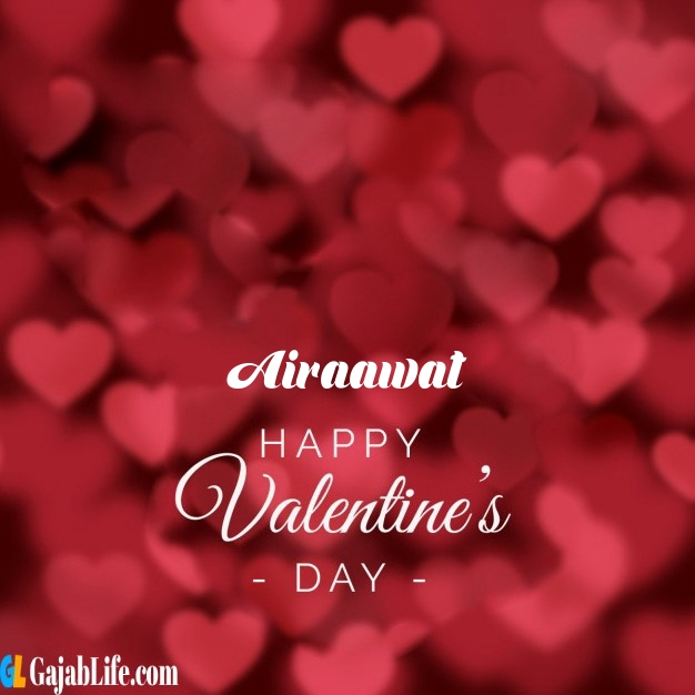 Airaawat write name on happy valentines day images