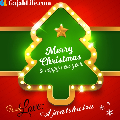 Ajaatshatru happy new year and merry christmas wishes messages images