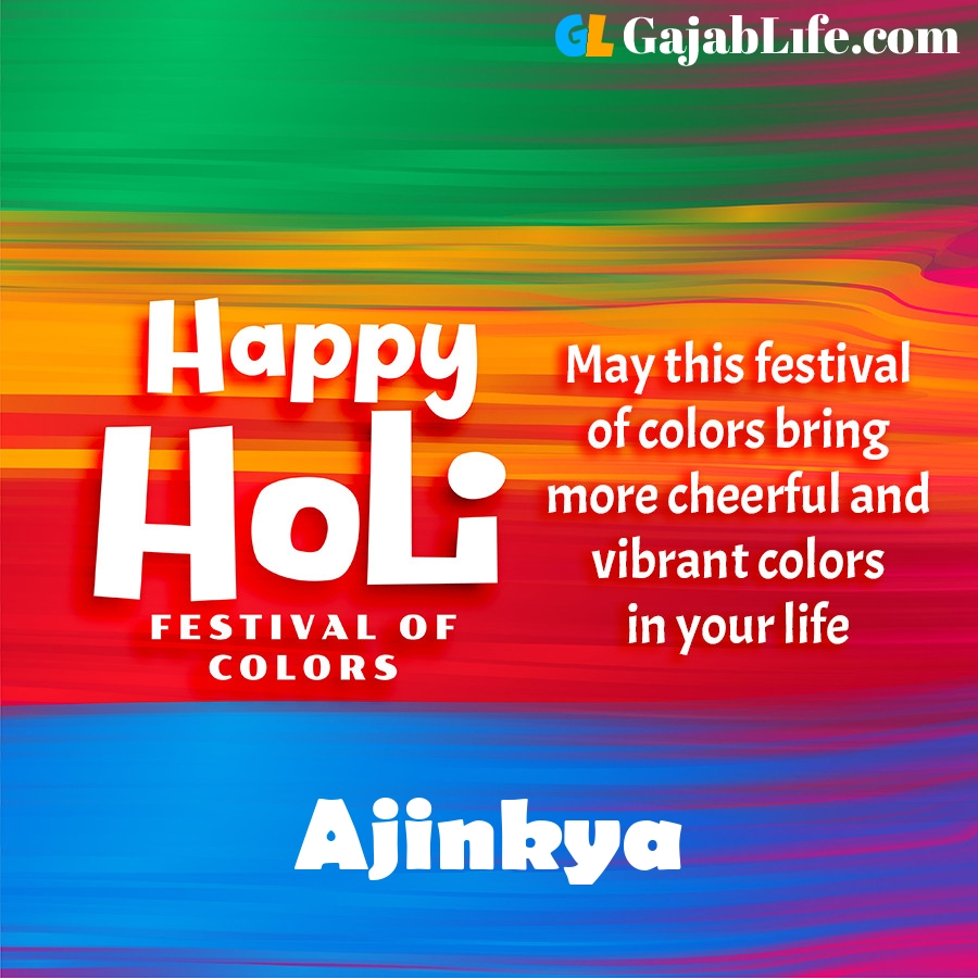 Ajinkya happy holi festival banner wallpaper
