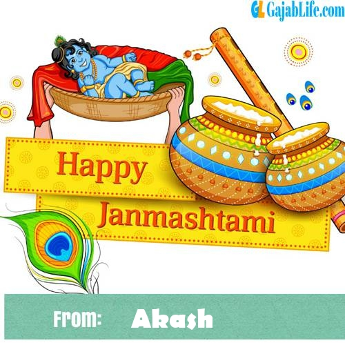 Akash happy janmashtami wish