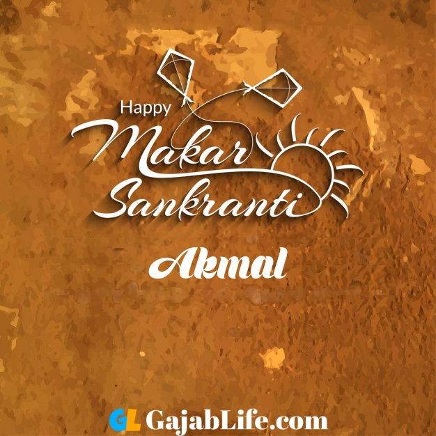 Akmal happy makar sankranti wishing card imag
