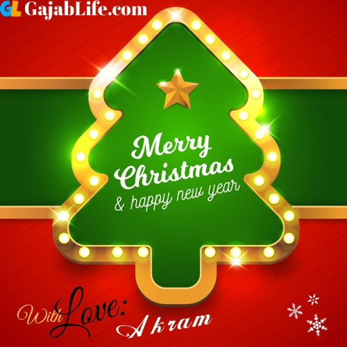 Akram happy new year and merry christmas wishes messages images